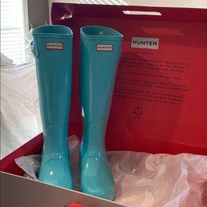 "Hunter  Boots ""Tiffany"" blue Mint RARE!! Original"